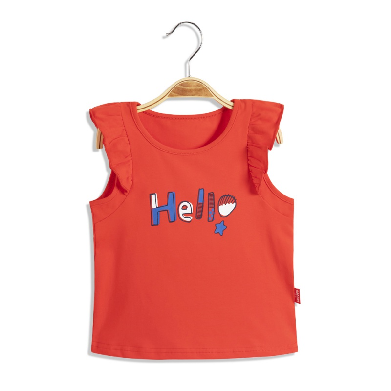 ABC-KIDS-Baby-Girl-Summer-T-shirt-Top-Blouse-Short-Sleeve-Sleeveless-Casual-Tee