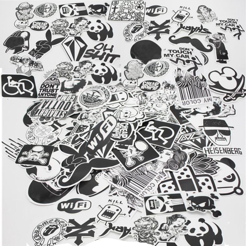 50 100 Individual Vinyl Decal Graffiti Sticker Bomb Skate Laptop PVC