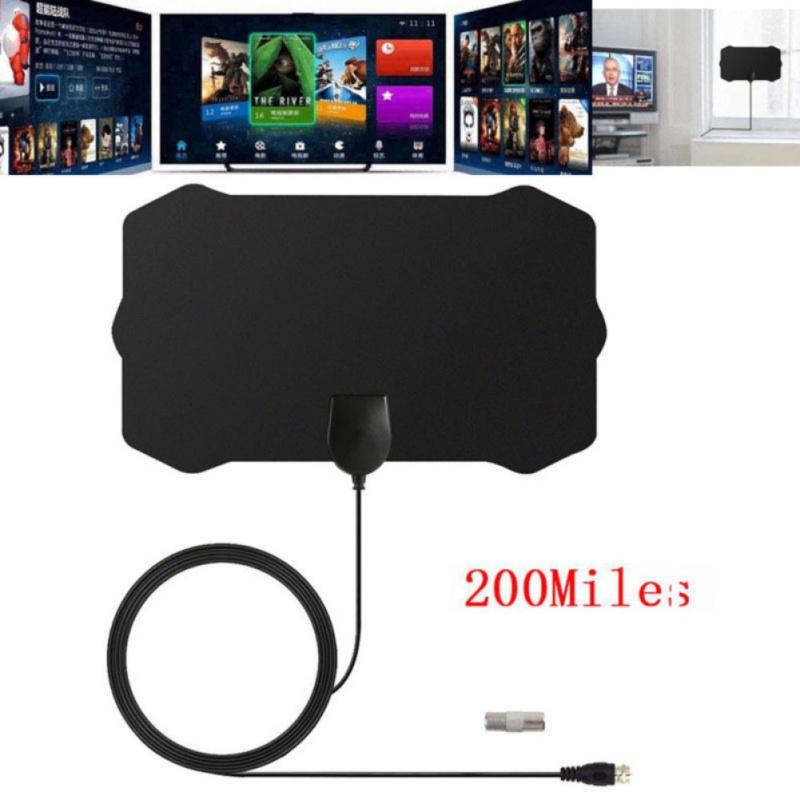 200 Miles 1080P 4K Antenna Digital HD TV Amplified Mile Ultr