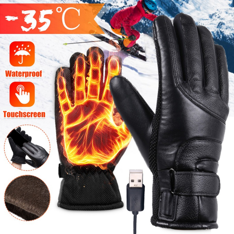 FUPOJW Electric Heated Gloves,Hand Warmer with Rechargeable Batteries,Winter Extra Warm Heat Touchscreen Gloves Kit,Cold Weather Must-Have Heating Gloves for Outdoors Climbing Hiking Hand Warmer