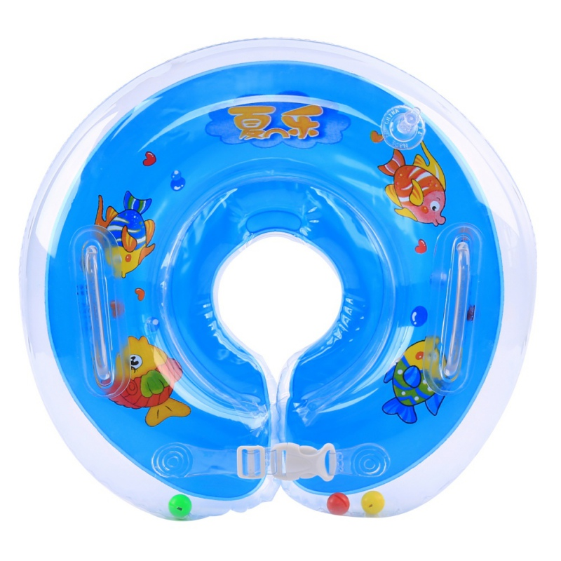 Baby Infant Bath Ring Swimming Protector Neck Ring Inflatable Float ...