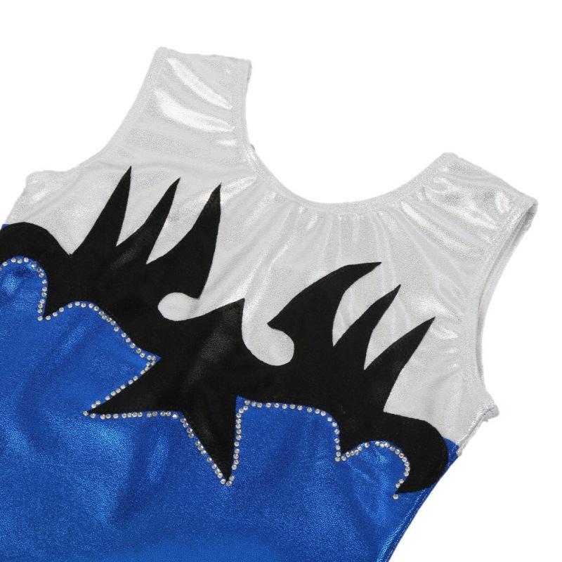 Kid-Girl-Shiny-Ballet-Dance-Gymnastics-Leotards-Athletic-Tank-Bodysuit-for-3-14Y thumbnail 11
