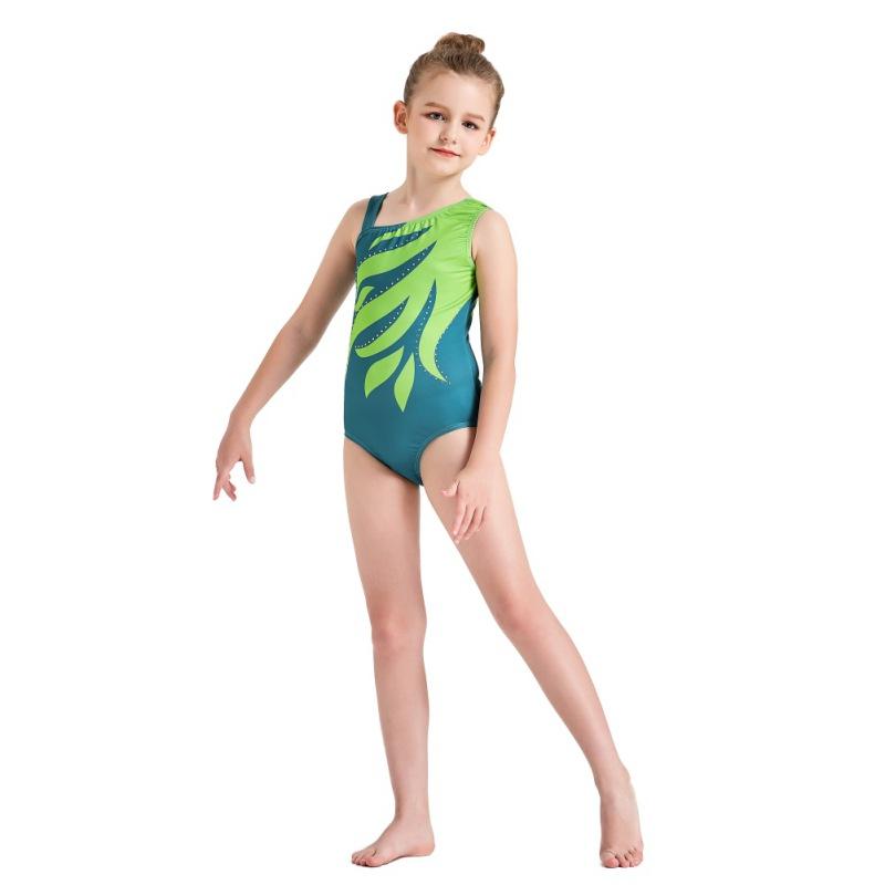 Kid-Girl-Shiny-Ballet-Dance-Gymnastics-Leotards-Athletic-Tank-Bodysuit-for-3-14Y thumbnail 18