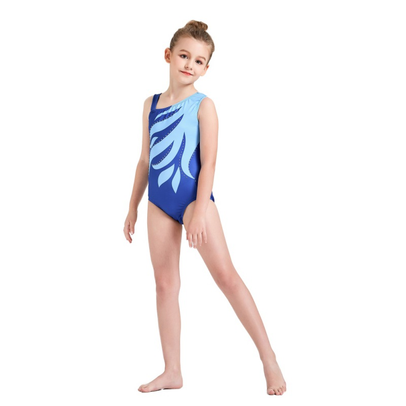 Kid-Girl-Shiny-Ballet-Dance-Gymnastics-Leotards-Athletic-Tank-Bodysuit-for-3-14Y thumbnail 16