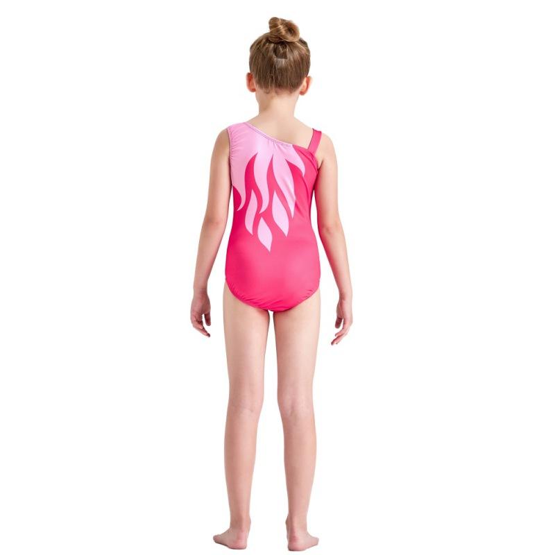Kid-Girl-Shiny-Ballet-Dance-Gymnastics-Leotards-Athletic-Tank-Bodysuit-for-3-14Y thumbnail 20