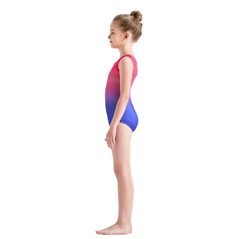 Kid-Girl-Shiny-Ballet-Dance-Gymnastics-Leotards-Athletic-Tank-Bodysuit-for-3-14Y thumbnail 22