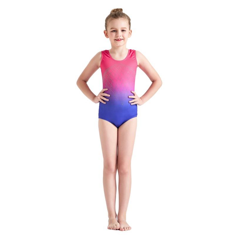 Kid-Girl-Shiny-Ballet-Dance-Gymnastics-Leotards-Athletic-Tank-Bodysuit-for-3-14Y thumbnail 23