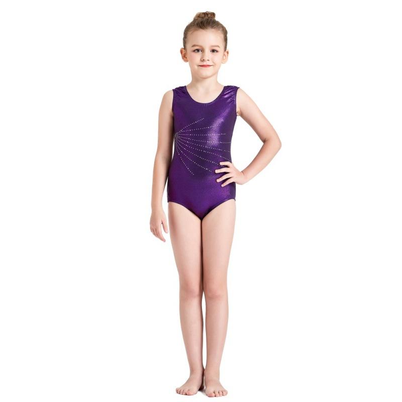 Kid-Girl-Shiny-Ballet-Dance-Gymnastics-Leotards-Athletic-Tank-Bodysuit-for-3-14Y thumbnail 27