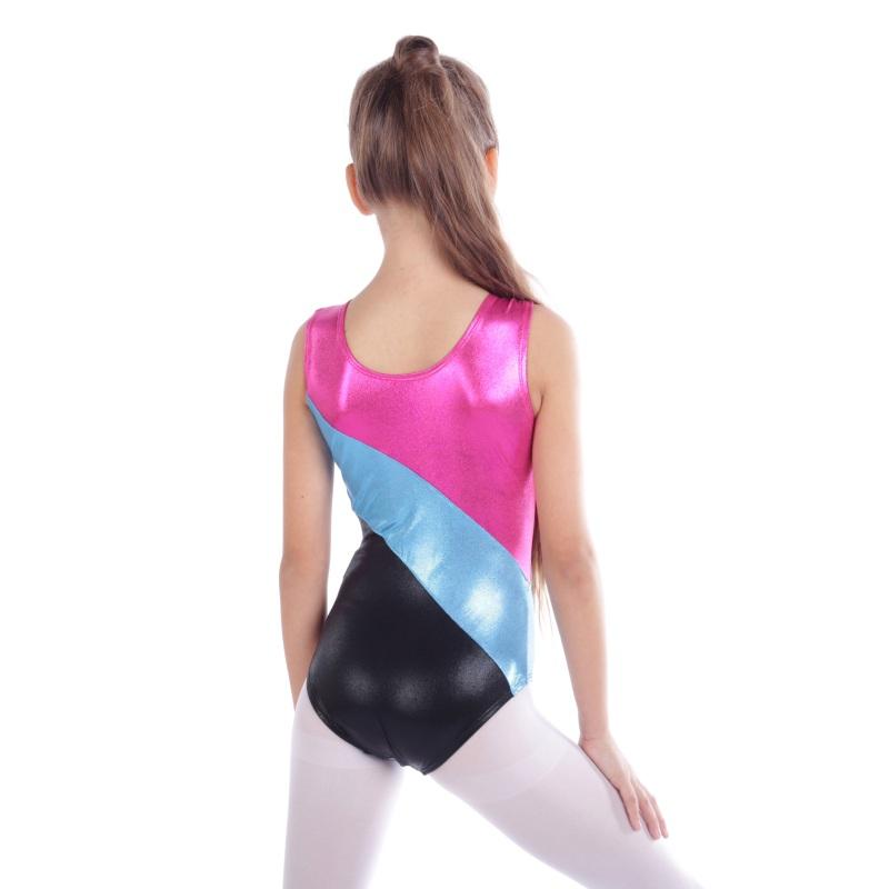 Kid-Girl-Shiny-Ballet-Dance-Gymnastics-Leotards-Athletic-Tank-Bodysuit-for-3-14Y thumbnail 36