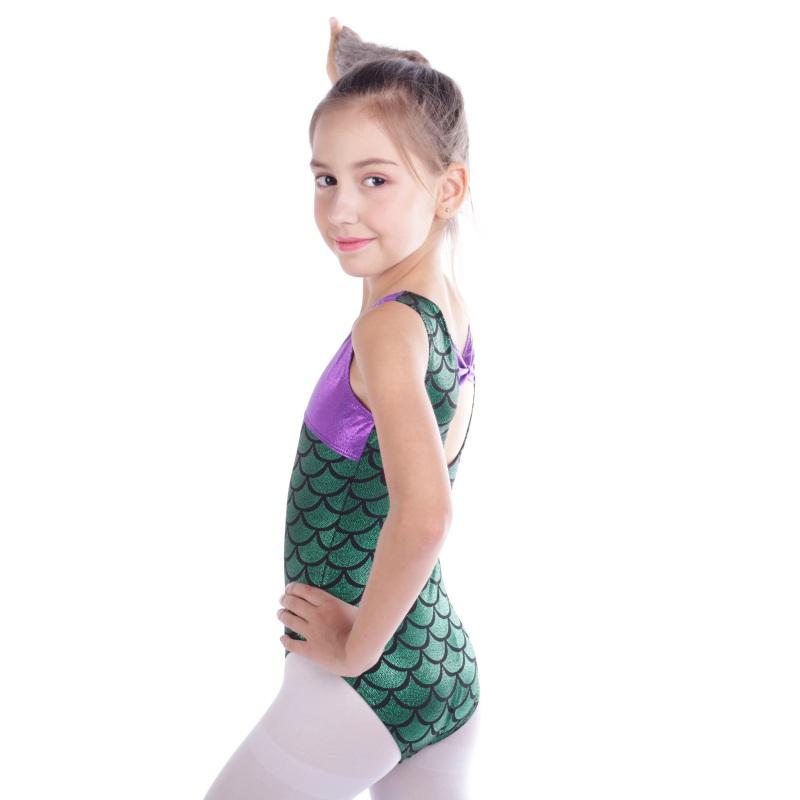 Kid-Girl-Shiny-Ballet-Dance-Gymnastics-Leotards-Athletic-Tank-Bodysuit-for-3-14Y thumbnail 44