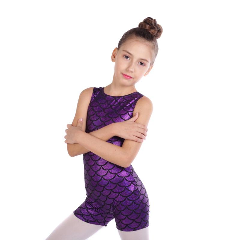 Kid-Girl-Shiny-Ballet-Dance-Gymnastics-Leotards-Athletic-Tank-Bodysuit-for-3-14Y thumbnail 47