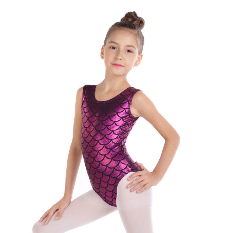 Kid-Girl-Shiny-Ballet-Dance-Gymnastics-Leotards-Athletic-Tank-Bodysuit-for-3-14Y thumbnail 58