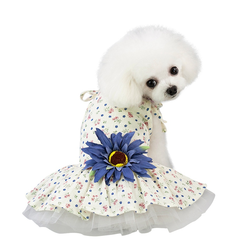 Pet-Daisy-Flower-Summer-Skirt-Mini-Dots-Dress-Costumes-Clothes-Small-Medium-Dogs thumbnail 15