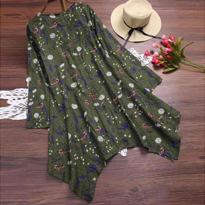 Women-Summer-Beach-Dress-Floral-Print-A-Line-Sundress-Asymmetrical-Midi-Dress