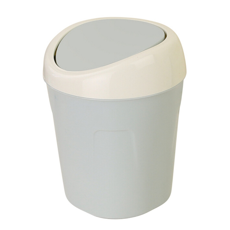 with lid white wastebasket trash gallon swing plastic kitchen top connectable dome cans can