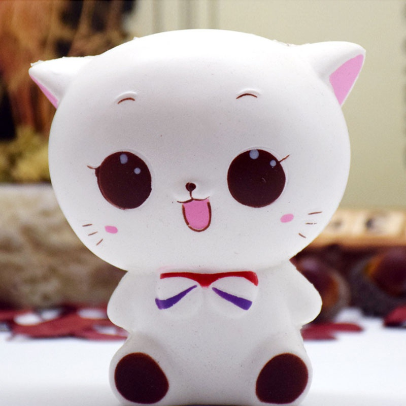 Squishy Donuts Kawaii : Stress Reliever Toys Kawaii Squishies Donut Soft Bread Squishy Cat Slow Rising eBay