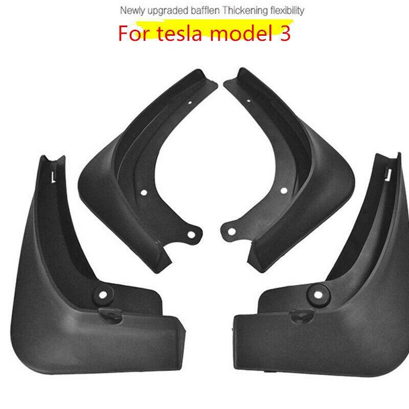 Universal-rubber-Car-Mud-Flaps-Splash-Guards-For-Tesla-Model-3-Fixing-Screws thumbnail 4