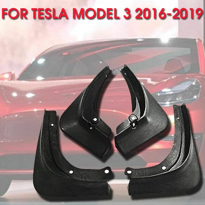 Universal-rubber-Car-Mud-Flaps-Splash-Guards-For-Tesla-Model-3-Fixing-Screws thumbnail 3