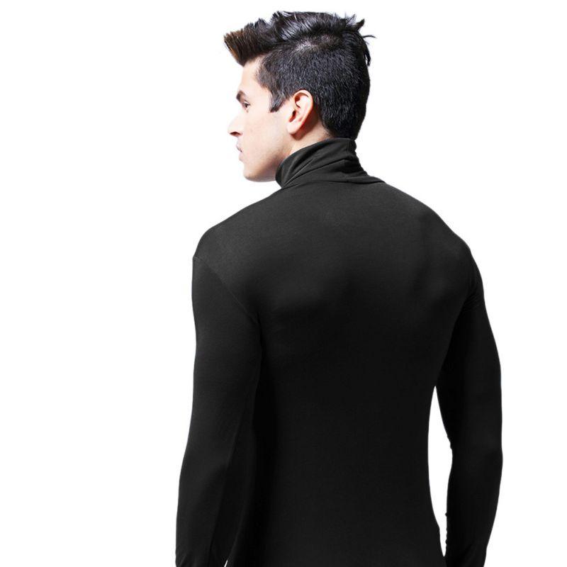 Fashion-Men-High-Neck-Slim-Fit-Long-Sleeve-Shirt-Warm-Thermal-Baselayer-Tee-Top thumbnail 13