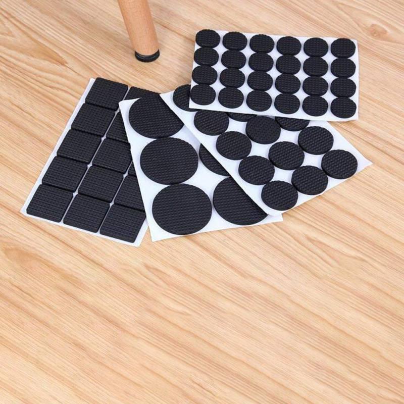 2//4//12//30//48x Chair Table Non-slip Leg Cap Feet Rubber Pad Cover Floor Protector