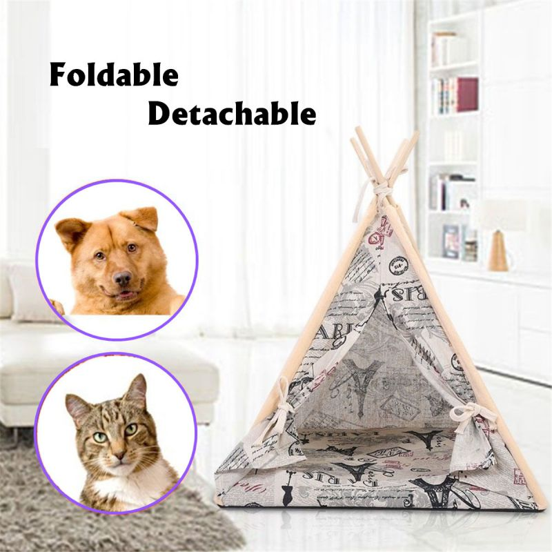 Portable Folding Dog Pet House Bed Tent Cat Indoor Outdoor P