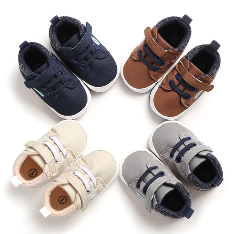 0-18M Baby Boys Anti-Slip Shoes Canvas Boots Sneakers Toddle