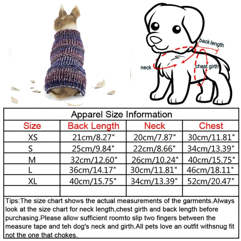 Pet-Coat-Dog-Jacket-Knitted-Winter-Clothes-Puppy-Sweater-Coat-Clothing-Apparel thumbnail 31