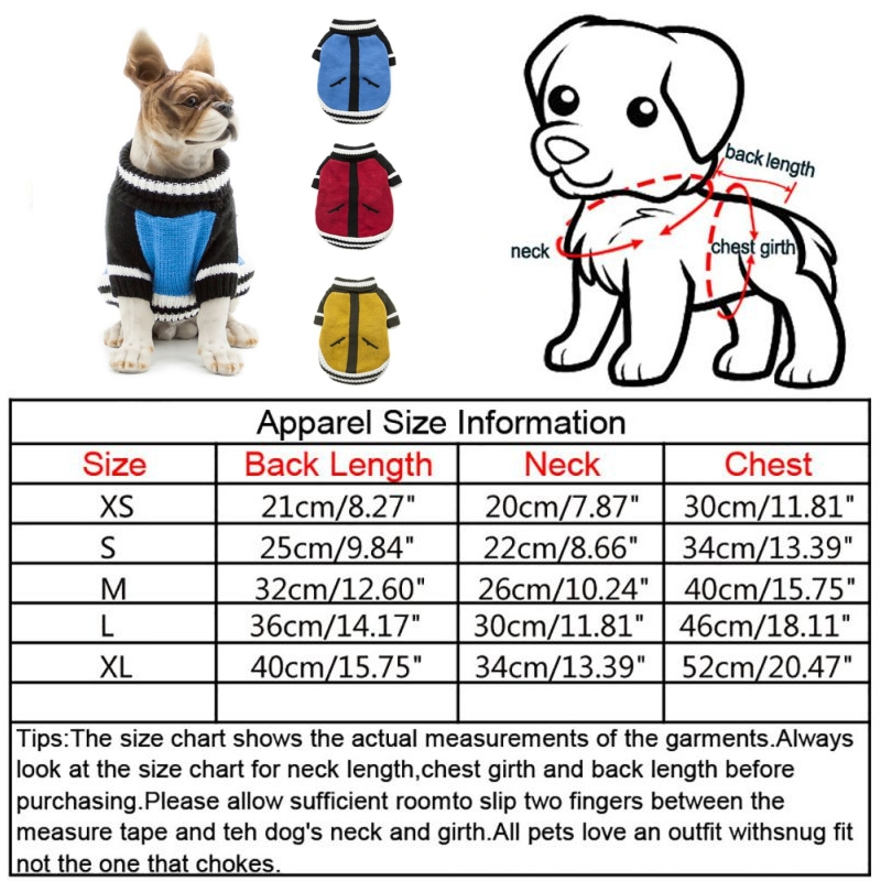 Pet-Coat-Dog-Jacket-Knitted-Winter-Clothes-Puppy-Sweater-Coat-Clothing-Apparel thumbnail 23