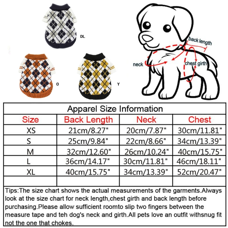 Pet-Coat-Dog-Jacket-Knitted-Winter-Clothes-Puppy-Sweater-Coat-Clothing-Apparel thumbnail 39
