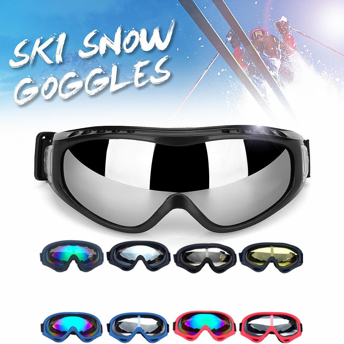 2b3c657bb209 Details about Anti-fog Dust Wind UV Water Snow Glasses Snowboard Goggles  Helmet Ski Sunglasses