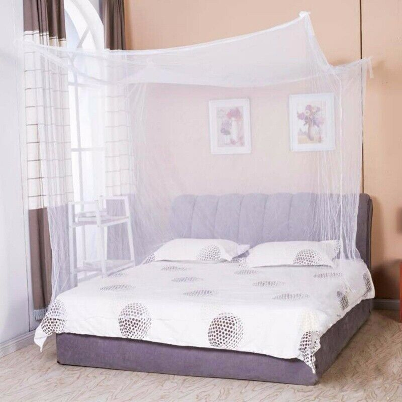 4 Corner Post Bed Canopy Mosquito Net Full/Queen Small King