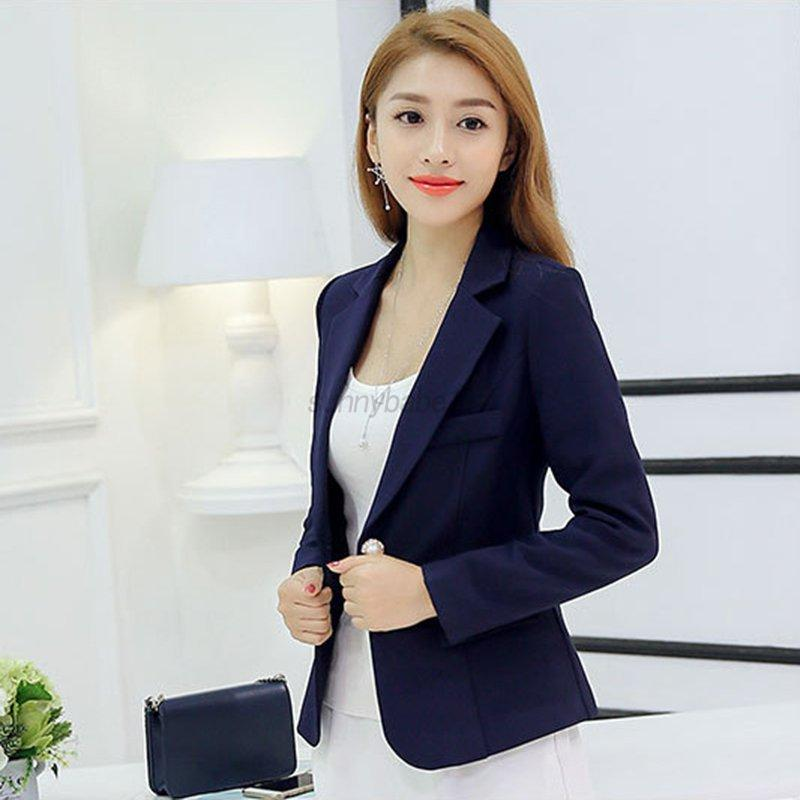 US Women Slim One Button Blazer Suit Casual Business Suit Coat ...